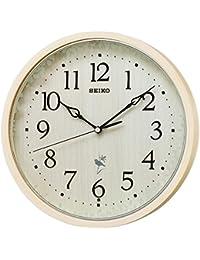 セイコー クロック 掛け時計 ネイチャーサウンド 12種類 電波 アナログ 報時 切替式 天然色 木地 RX215A SEIKO
