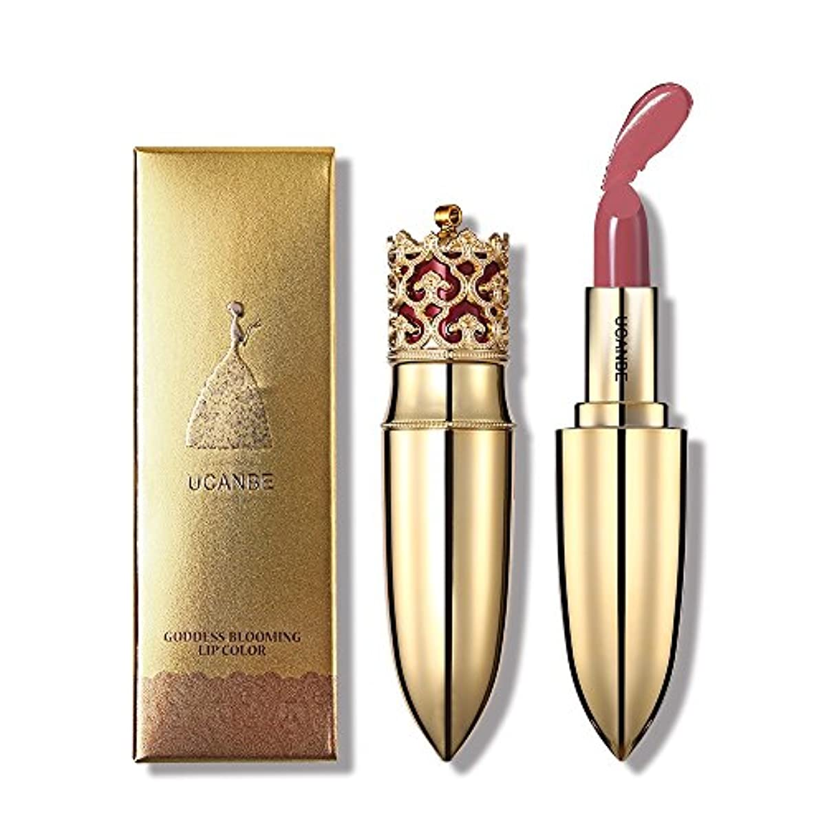 製品踏み台アスレチックCrown Velvet Matte Lipstick Makeup Golden Nude Long Lasting Pigment Lips Stick Natural Cosmetic Lip Rouge (#03 Girl Crush)