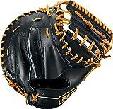 ZETT(ゼット) 硬式野球 プロステイタス キャッチャーミット ブラック×オークブラウン(1936) 右投げ用 日本製 BPROCM120