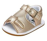 [FEOYA] ベビー シューズ サンダル 子供 靴 ベビーサンダル 女の子 幼児 靴 子供シューズ 柔らかい赤ちゃん歩行靴 滑り止め 春夏 薄ゴールド 12cm