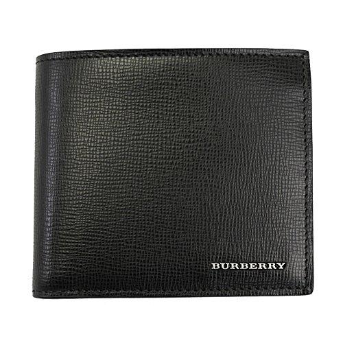 Burberry(バーバリー) 二つ折り財布 メンズ ブラック レザー 3997618 [並行輸入品]