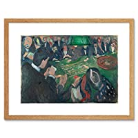 Painting Edvard Munch At Roulette Table In Monte Carlo Framed Wall Art Print ペインティング壁