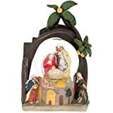 Holy Family Nativity Water Snow Globe Religious Collectible Decoration