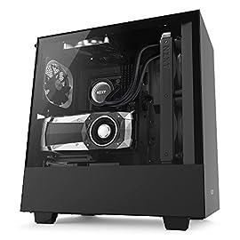 NZXT H500i RGB LED 発光 & ファン制御機能搭載モデル [ Black & Black ] CA-H500W-B1