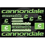オートバイとバイクのデコレーションステッカーデコレーションサイズのプロモーションセット Cannondale Green