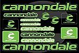Cannondale自転車フレームデカールステッカーグラフィックセットビニールAdesivi(グリーン - ブラック) (GREEN)