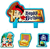 Jake and the Never Land Pirates誕生日パーティーSupplies Molded Candles – 4 Piece