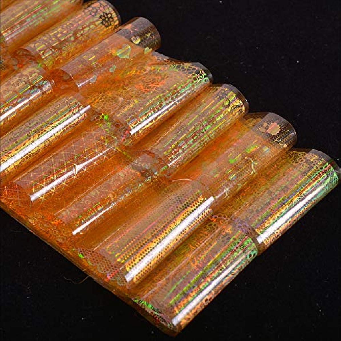 航海デコレーションミリメートルSUKTI&XIAO ネイルステッカー 16ピースホログラフィックゴールド箔レースフラワーグラデーションラップクリスマスネイルアート転送ステッカーデカールマニキュアヒント装飾ツール