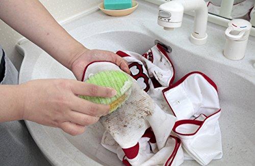 サンコー 洗濯ブラシ びっくりフレッシュ ちょこっと洗濯 2個セット グリーン BH-05
