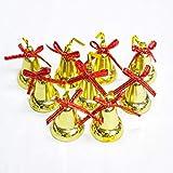 ノーブランド クリスマス  飾り 鈴 クリスマスツリー 装飾 ベル  雑貨  オーナメント アクセサリー ゴールド ジングルベル 9個セット