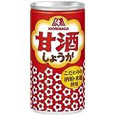 森永製菓 甘酒 (しょうが入)190g缶 60本セット(30本入×2)