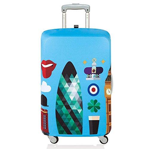 (ローキー) LOQI スーツケース カバー 【HEY】London【Mサイズ】