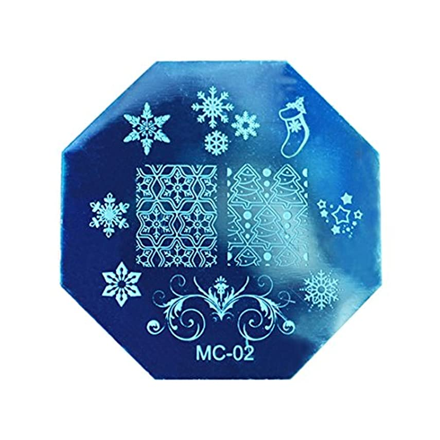プラカード政治家通知するRETYLY クリスマスDIYイメージスタンピングプレートマニキュアモデル ネイルアートプレート(MC-02)