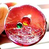 シャンパンピーチ 匠の技 神秘的な 宇宙 銀河 ガラス ネックレス ペンダント 太陽 惑星 メンズ レディース 017