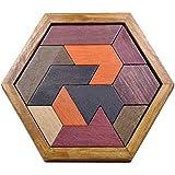 Blackfell キッズパズル木のおもちゃジグソーパズル幾何学的形状子供知育玩具知能寸法パズル組み合わせ
