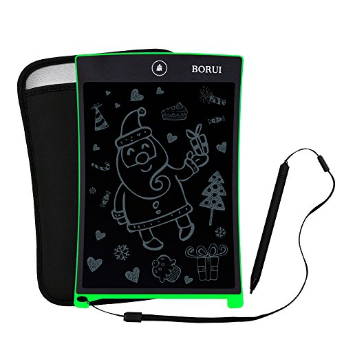 BORUI 電子メモパッド 電子メモ帳 デジタルペーパー 付属品:保護カバー ストラップ (緑色)