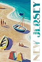 新しいJersey–ビーチシーン 16 x 24 Signed Art Print LANT-81234-709