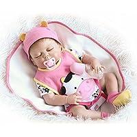 リボーンベイビードールシリコンビニールロングロングヘアリアルな美しい生き物の女の子楽しいギフトは、シミュレーション、赤ちゃん、リアリズム、人形をすることができます