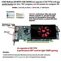 AMD Radeon HD 8570 1GB GDDR3 ロープロファイルブラケット スリム / SFF コンピュータ、ノーマルサイズ コンピューター 4K