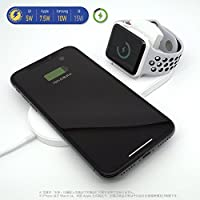 iPhoneに最適 2Wayワイヤレス充電器 Qi認証品 iPhoneX,iPhone8/8Plusに最適7.5W出力 appleウォッチを同時充電 QC3.0ACアダプタ付属 androidスマートフォンには最大10W出力