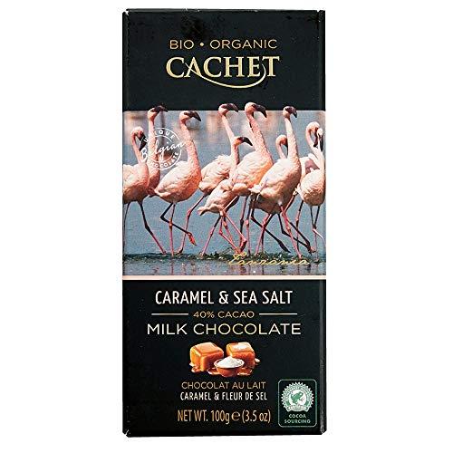 Cachet(カシェ) オーガニックキャラメル&シーソルト 100g×12枚(1ケース) [正規輸入品]