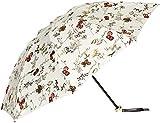 [ジルスチュアート] AURORA(オーロラ) JI-27015-15 ボタニカルプリント(箔文字) カーボン軽量UV遮光兼用おりたたみ傘