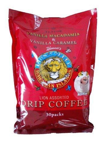 ライオンコーヒー バニラマカダミア バニラキャラメル ハワイアンコーヒー 袋 (8gx15p) 240g