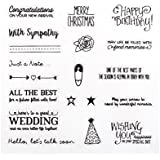 Dolity 10 Styles Animals Wishes Transparent Silicone Rubber Stamp Seal Sheet for DIY Crafts Travel Diary Scrapbooking Decoration - Special Day