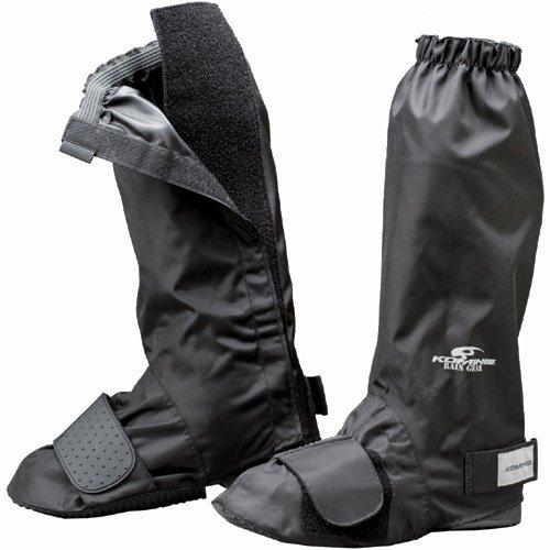 コミネ KOMINE バイク ネオレインブーツカバー (ロング) 防水 雨具 ブラック L 09-033 RK-033