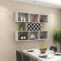 シュウクラブ@ ミルクホワイトクリエイティブウォールワインキャビネットワインラック壁棚キッチンレストランワインクーラーパーティションリビングルームディスプレイスタンド (サイズ さいず : 120cm)