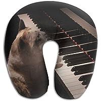 首枕でResilient材質Cat Play Piano Uタイプ旅行枕スーパーソフトCervical枕