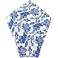 Mens Pocket Square Baby Blue Pattern Paisley | Wedding Handkerchief | Groomsmen Hanky | Gift For Him |