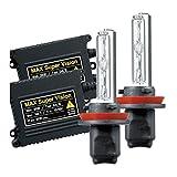 【MAX-スーパー ビジョン HID Evo.VI 】BMW E60/E61 5-シリーズ '03-'10 フォグ ライト用 12V 25W 10000k H8 バルブ切れ警告灯対策専用セット