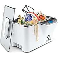 Ultrasonic Cleaner 600ml 42,000 Hz with Digital Timer and Cooling Fan for Cleaning Jewelry Eyeglasses Earrings Rings Necklace Coins Razors Dentures Combs Tools E-Cigarette Instruments