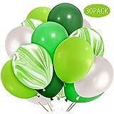風船 緑瑪瑙のバルーン ダークグリーンライトグリーンフルーツグリーンホワイトバルーン 結婚式  誕生日パーティー イベント 装飾 30枚セット