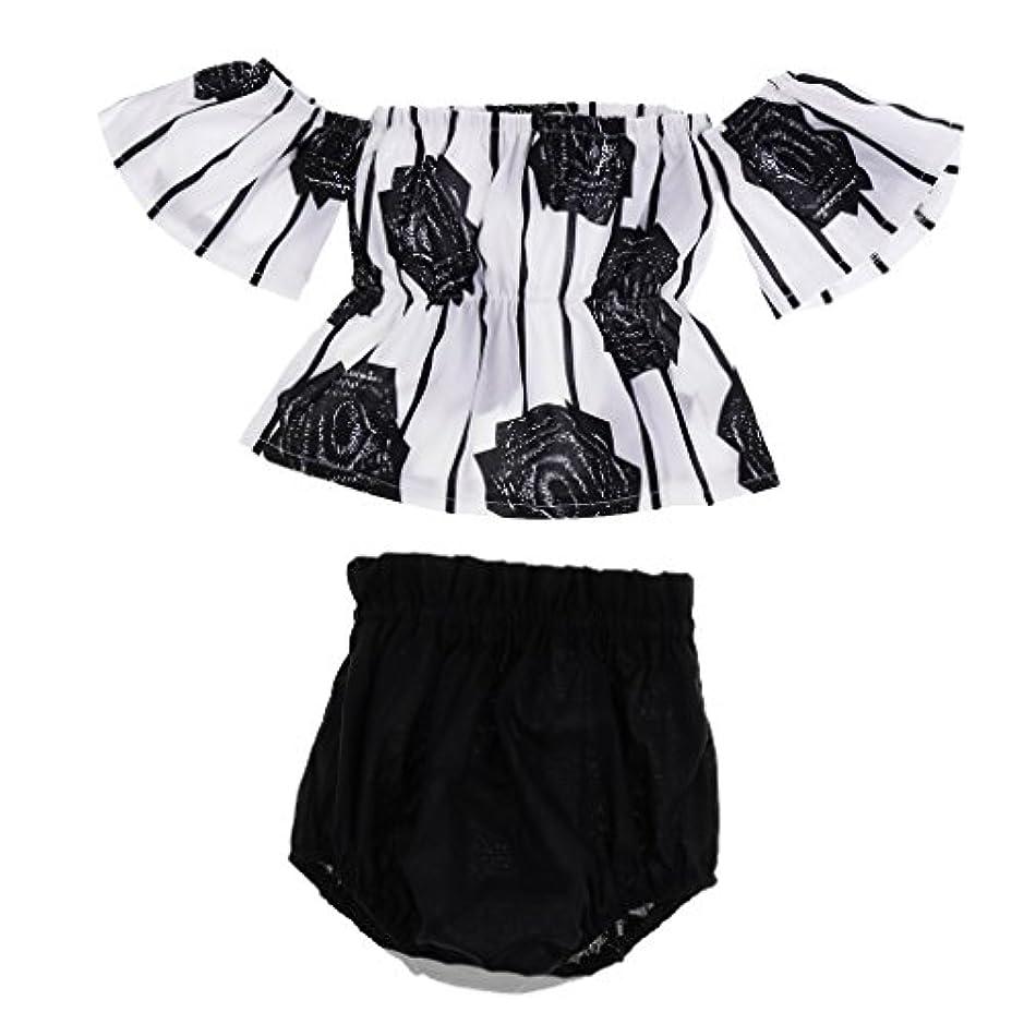 言い直す名誉ワゴンSM SunniMix 2点 ベビードレス 赤ちゃん 夏の服装セット ドレス パンツ 通気性 全3サイズ