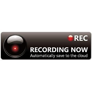Exproud製 Recording Now スタイリッシュEM マグネットステッカー 18x5.5cm Mサイズ ドライブレコーダー搭載車両 あおり運転対策M