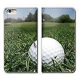 Tiara XPERIA Z5 compact SO-02H スマホケース 手帳型 ベルトなし ゴルフ グリーン スポーツ クラブ ボール 手帳ケース カバー バンドなし マグネット式 バンドレス [EB26803_04]