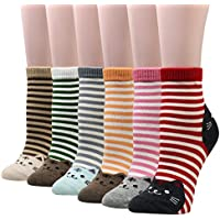 Cansok 4/5/6 Pack Women's Cat Socks Fun Novelty Dress Crew Socks