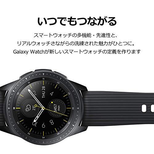 『Galaxy Watch 42mm ミッドナイトブラック【Galaxy純正 国内正規品】 Samsung スマートウォッチ iOS/Android対応 SM-R81010118JP』の4枚目の画像