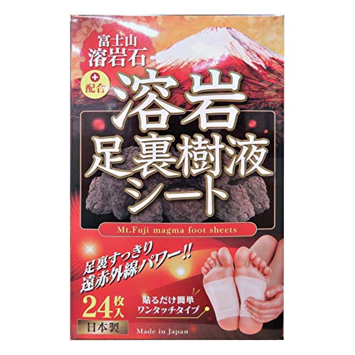 ふける指標かかわらず富士山溶岩石配合 溶岩足裏樹液シート(24枚)