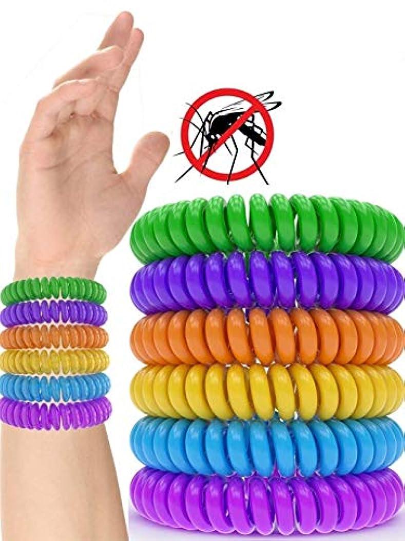 蚊のブレスレット、100%天然の無毒のバグブレスレット保護の350時間 - 子供、女性、男性用(12パック)