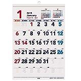キュービックス 2015 カレンダー ベーシック もじデカ A3 ホワイト 202821-01