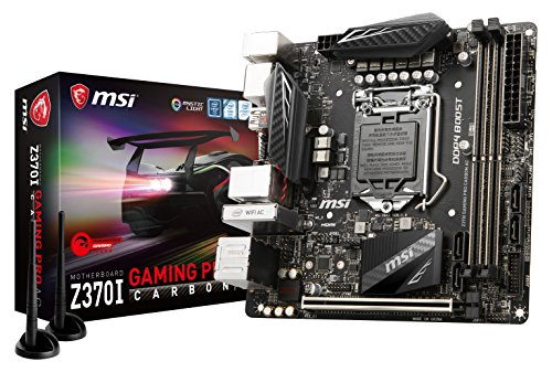 MSI Z370I GAMING PRO CARBON AC Mini-ITX ゲーミングマザーボード  Intel Z370チップ搭載  MB4143