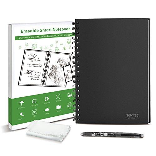 半永久的に使えるノート B5 スマートノート 耐水 濡れた布で消せる Everlast 電子ノート 消せるノート 文房具 おもしろ NEWYES ドット入り罫線 データ管理機能付き エコ 500回繰り返し使える 一年保証付き (B5)
