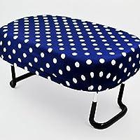 座イス/Lサイズ/005紺色×ドットホワイト/座椅子/折りたたみ式/お仏壇用/正座イス