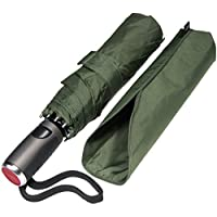 LifeTek Windproof Travel Umbrella - Fast Drying Teflon Canopy Strong & Portable