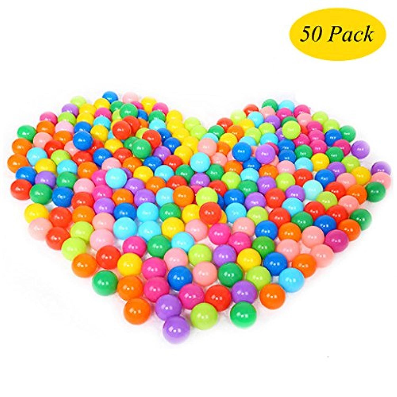 upupo大きいサイズPit Balls 50個パック、2.8 inchs再利用可能なmutil-color Crush Proofプラスチックボール、子供安全プールゲームおもちゃ