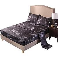 A Nice Night Galaxy 3d印刷ベッドシートベッドセット、100 %ソフトマイクロファイバーボックスシーツ ツイン ブラック anicenightclblackt