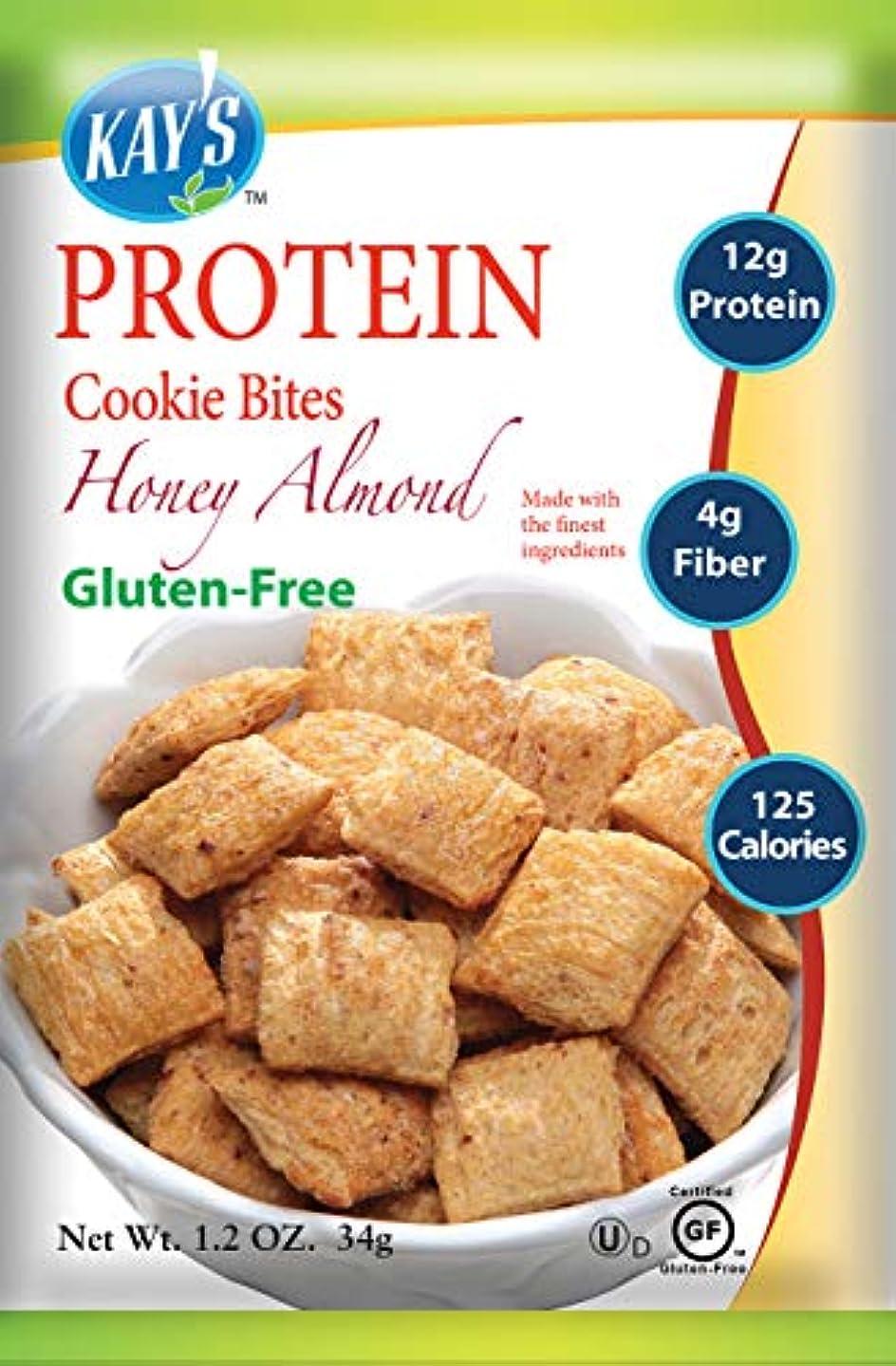 松明織る接地Kay's Naturals Protein Cookie Bites, Honey Almond Filled, 1.2 ounces (Pack of 6) by Kay's Naturals [並行輸入品]
